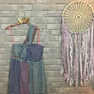 maeve // blue green gingham plaid picnic dress 8